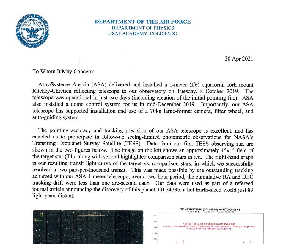 U.S. Air force statement